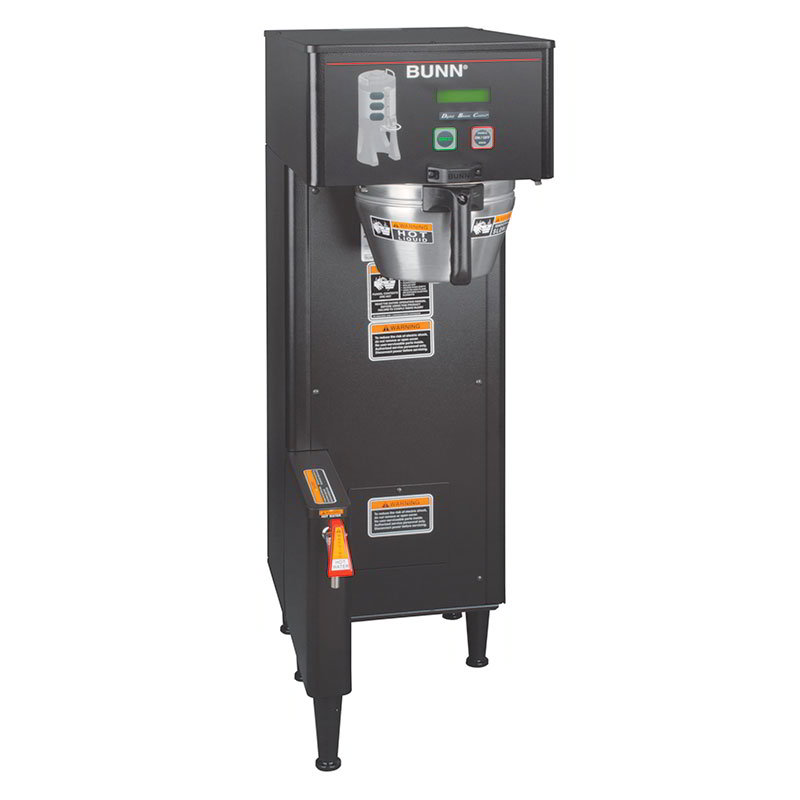Bunn-o-matic 34800.0008 Single Satellite Coffee Brewer, Black Finish, Funnel Lock, 120V
