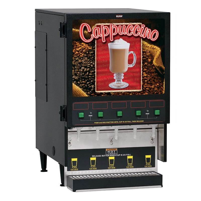 Bunn-o-matic 34900.0000 FMD-5 BLK Hot Powdered Drink Machine, 5 Hoppers