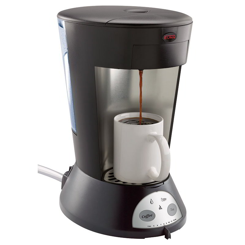 Bunn MCA-0009 MCA My Cafe Pod Brewer Automatic, 1 Cup, Coffee & Tea (35400.0009)