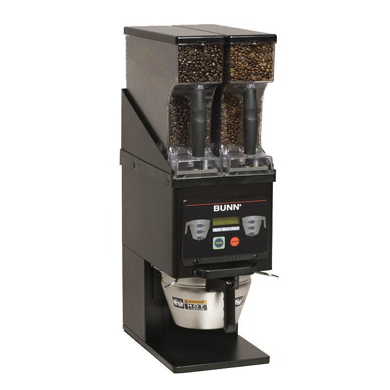 Bunn MHG-0022 Multi Hopper Grinder & Storage System - Front Loading, Stainless Steel, Black (35600.0022)