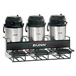Bunn-o-matic 35728.0002 UNIV-3 APR Universal Airpot Rack, For 3 Airpots, Holds 3 Lower