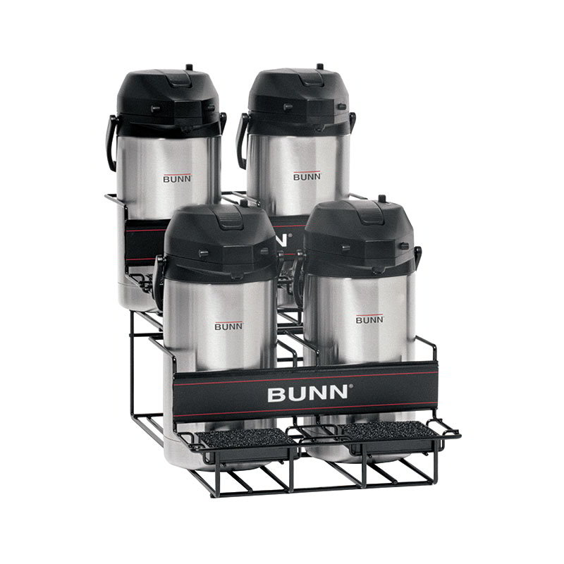 Bunn UNIV-4-0003 UNIV-4 APR Universal Airpot Rack, For 4 Airpots, Holds 2 Upper/2 Lower (35728.0003)