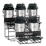 Bunn UNIV-5-0004 UNIV-5 APR Universal Airpot Rack, For 5 Airpots, Holds 3 Upper/2 Lower