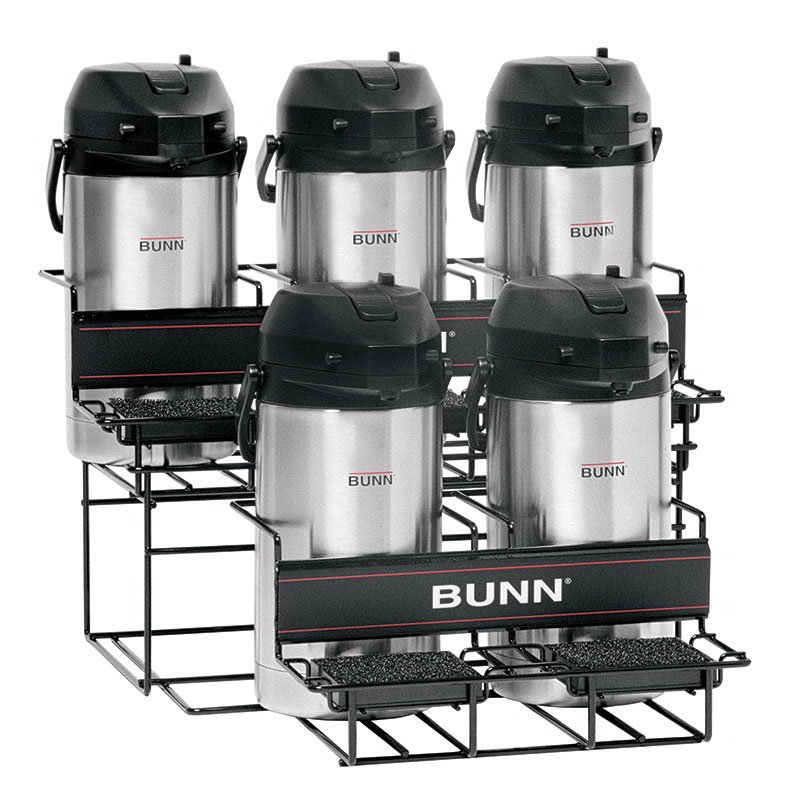 Bunn UNIV-5-0004 UNIV-5 APR Universal Airpot Rack, For 5 Airpots, Holds 3 Upper/2 Lower (35728.0004)