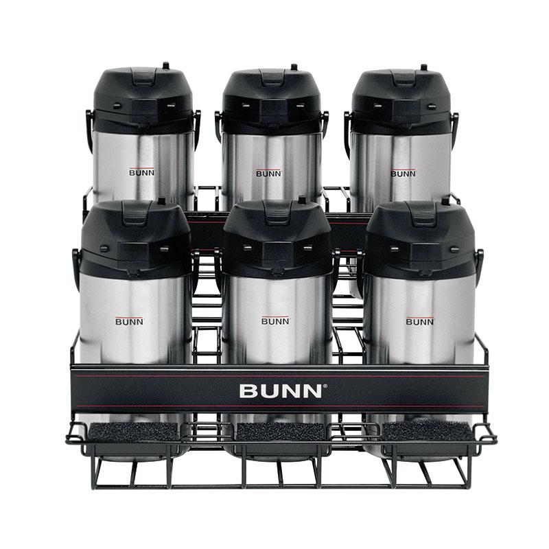 Bunn UNIV-6-0005 UNIV-6 APR Universal Airpot Rack, For 6 Airpots, Holds 3 Upper/3 Lower (35728.0005)