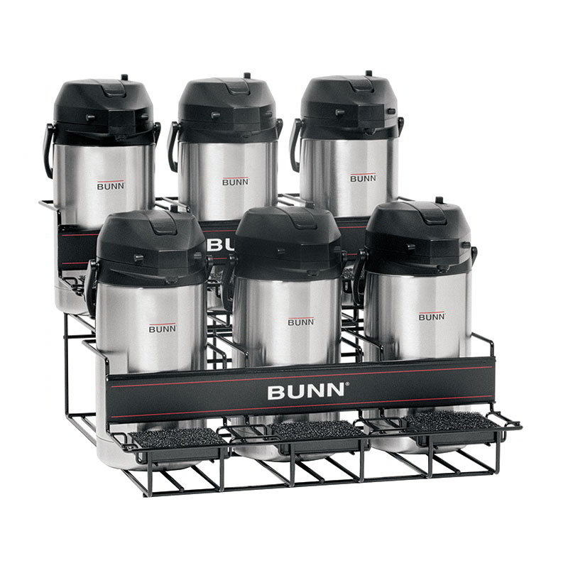 Bunn UNIV-6-0005 UNIV-6 APR Universal Airpot Rack, For 6 Airpots, Holds 3 Upper/3 Lower (35728.0005)