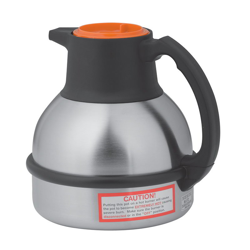Bunn 36252.0001 Thermal Carafe, 1.85 Liters, S/S Liner, Orange Lid
