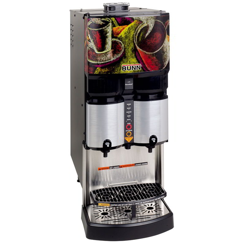 Bunn LCA-2-PC-0026 PC Liquid Coffee Dispenser, (2) .5 & 1-gal Capacity, Dispense Ratio to 45-to 1 (36500.0026)