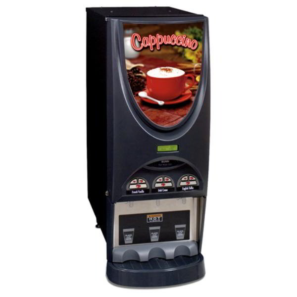 BUNN-O-Matic 36900.0002 Hot Drink Dispenser, 3-Hoppers & Portion Control, Cappuccino Display