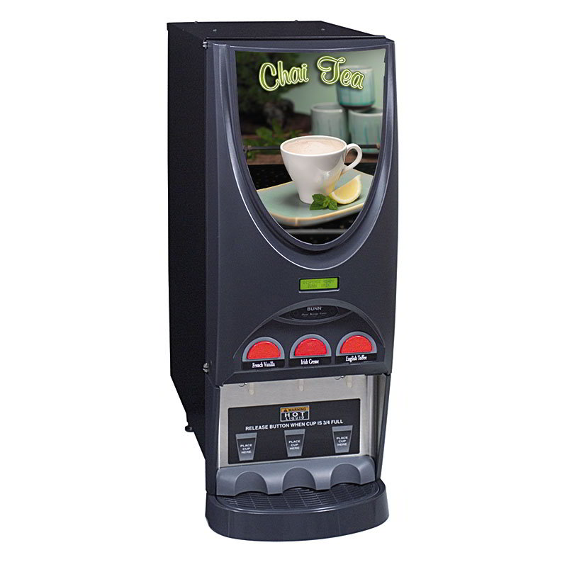 Bunn IMIX-3-0005 Hot Drink Dispenser, 3-Hoppers, Specialty Display, Black (36900.0005)