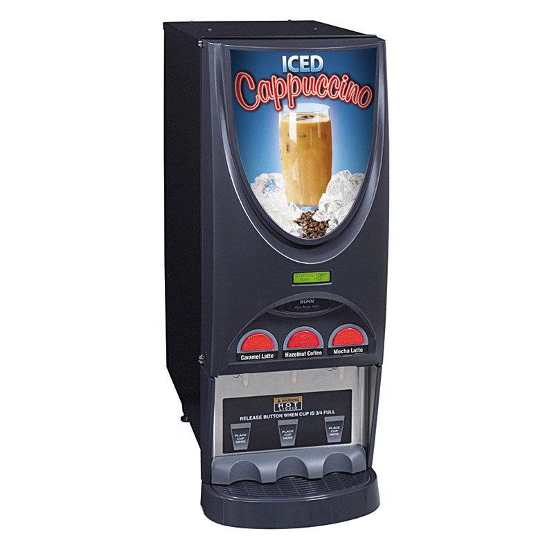 Bunn IMIX-3-0026 Hot Beverage Dispenser w/ (3) 8-lb Hoppers & 4.5-gal Hot Water Tank, Iced Coffee