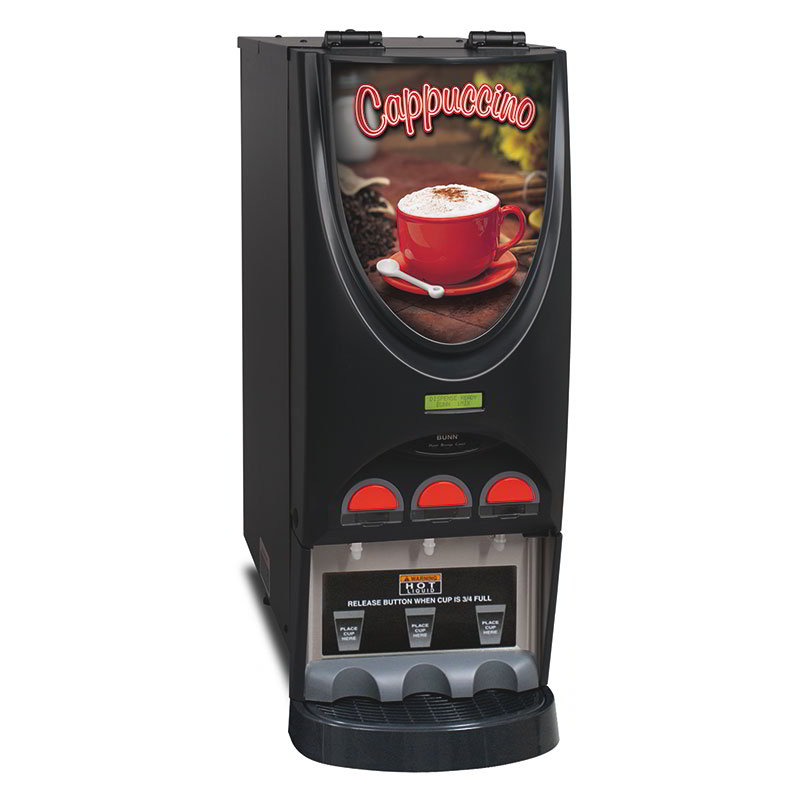 Bunn IMIX-3-0050 Hot Beverage Dispenser w/ (3) 8-lb Hoppers & 4.5-gal Hot Water Tank, Cappuccino (36900.0050)