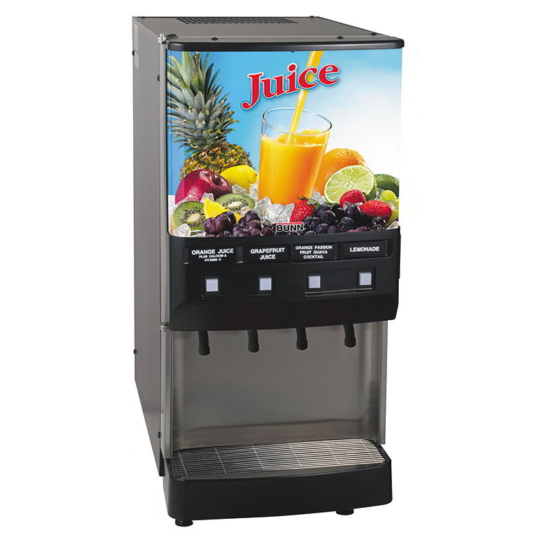 Bunn JDF-4S-0000 4-Flavor Cold Beverage System w/ (3) 12-oz Drink Capacity, Juice Display (37300.0000)