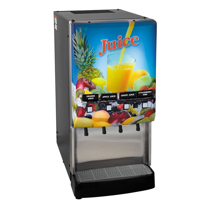 Bunn JDF-4S-0006 4-Flavor Cold Beverage System, Water Dispense, Juice Display, 120V (37300.0006)