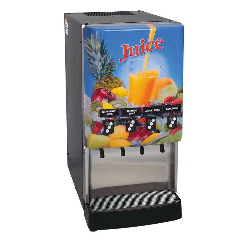 Bunn JDF-4S-0023 4-Flavor Cold Beverage System, Portion Control, Juice Display, 120V (37300.0023)