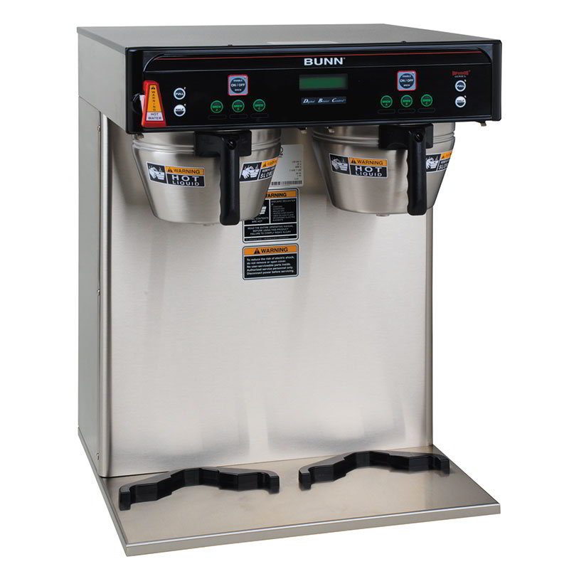 BUNN-O-Matic 37600.0002 5.6-Gallon Twin Coffee Brewer, English/Spanish Display, 120-208 V