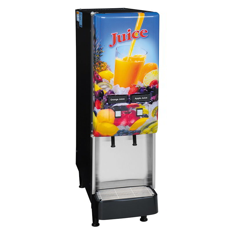 Bunn JDF-2S-0008 2-Flavor Beverage System, Lit Door, Juice Display, 120 V