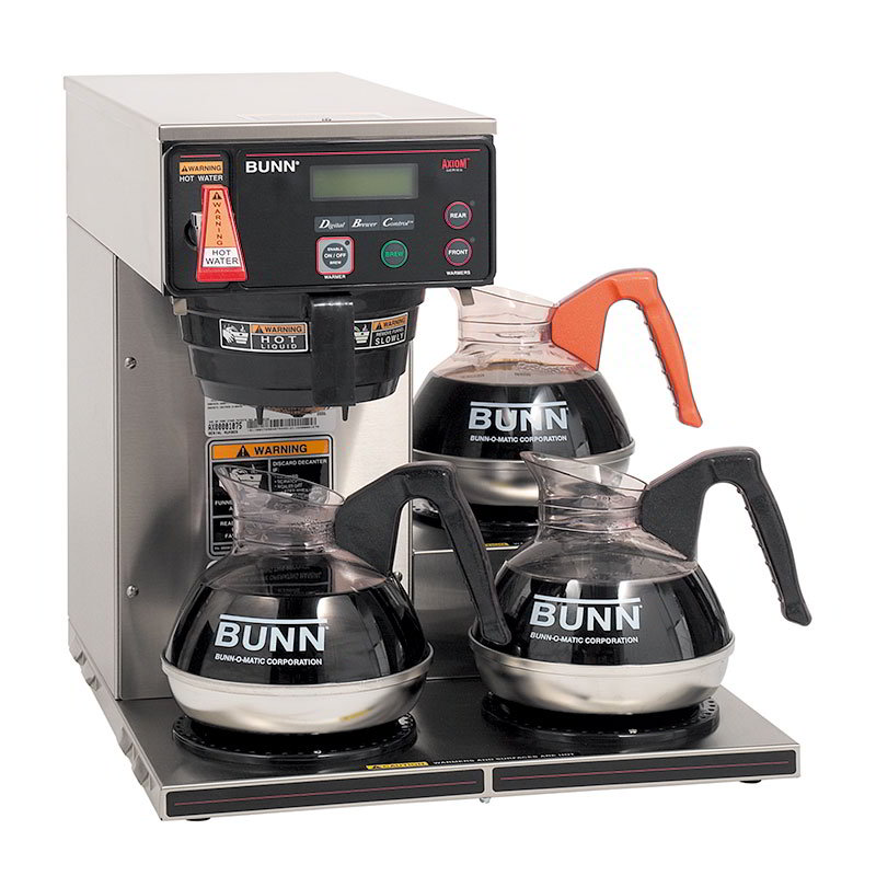 Bunn AXIOM-35-3-0003 3 Lower Warmer Coffee Brewer, Hot Water Faucet, LCD Display, 120-240 V (38700.0003)
