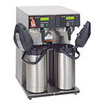 BUNN-O-Matic 38700.0013 15-Gal Twin Airpot Coffee Brewer, Faucet & LCD Display,120/240 V