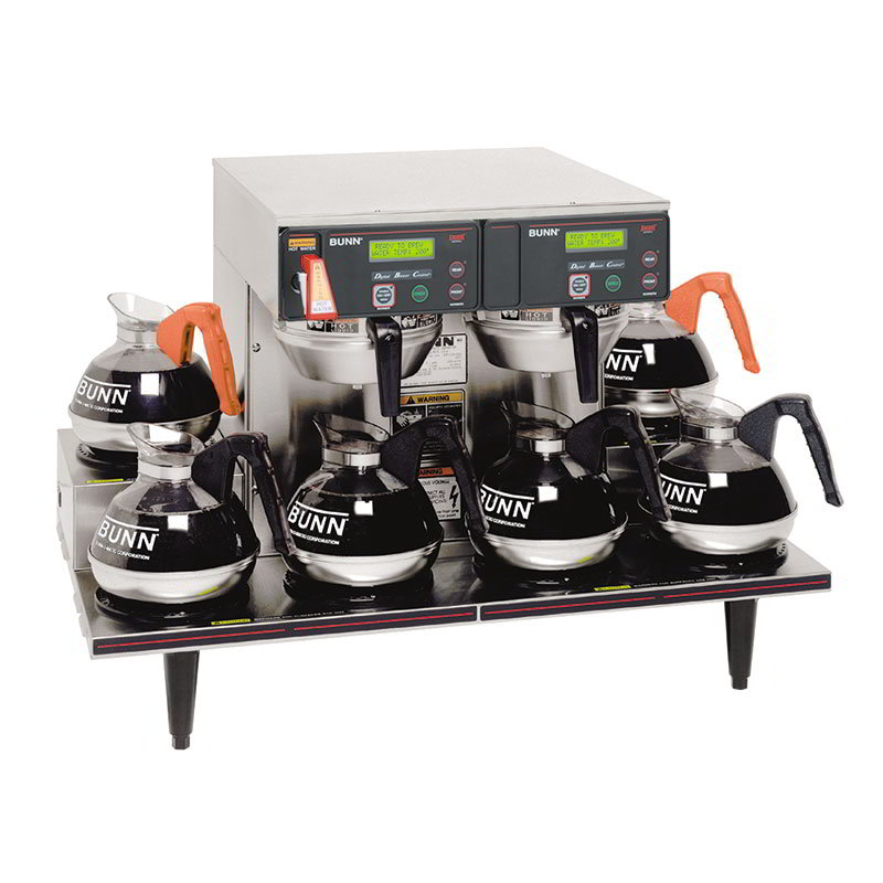 Bunn AXIOM-0/6-0015 AXIOM Twin Automatic Coffee Brewer, 6 Lower Warmers, 120/208-240 V (38700.0015)