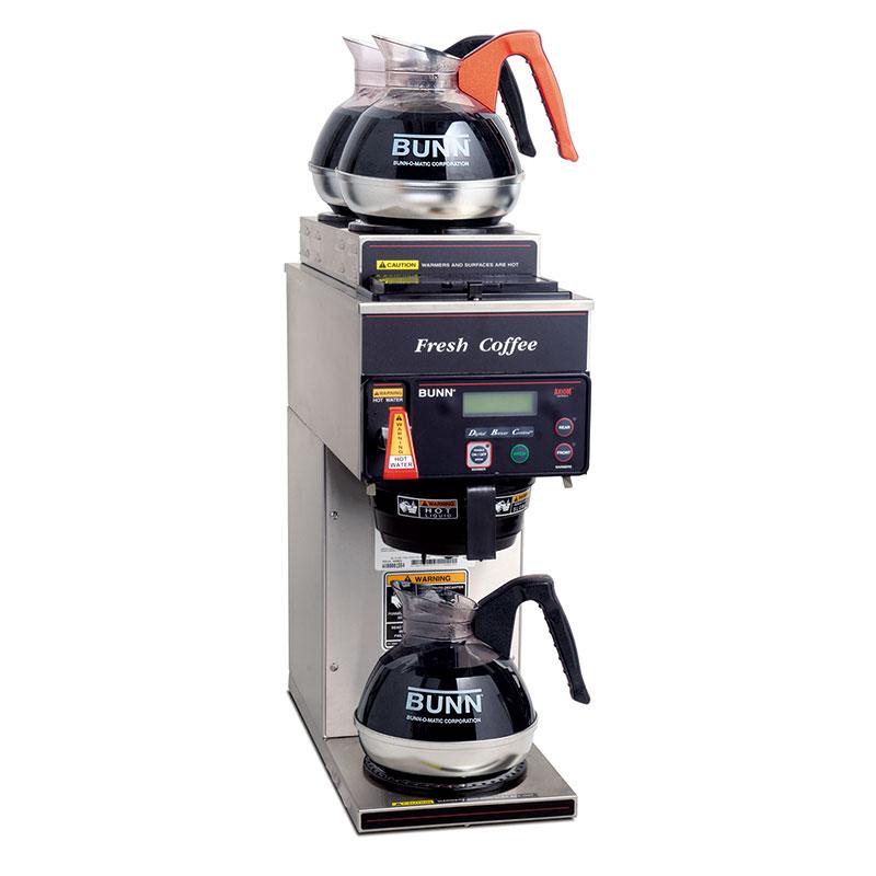 Bunn AXIOM-P-3-0023 AXIOM P-3-DV Coffee Brewer, 1 Lower/2 Upper Warmers, 120/240 (38700.0023)