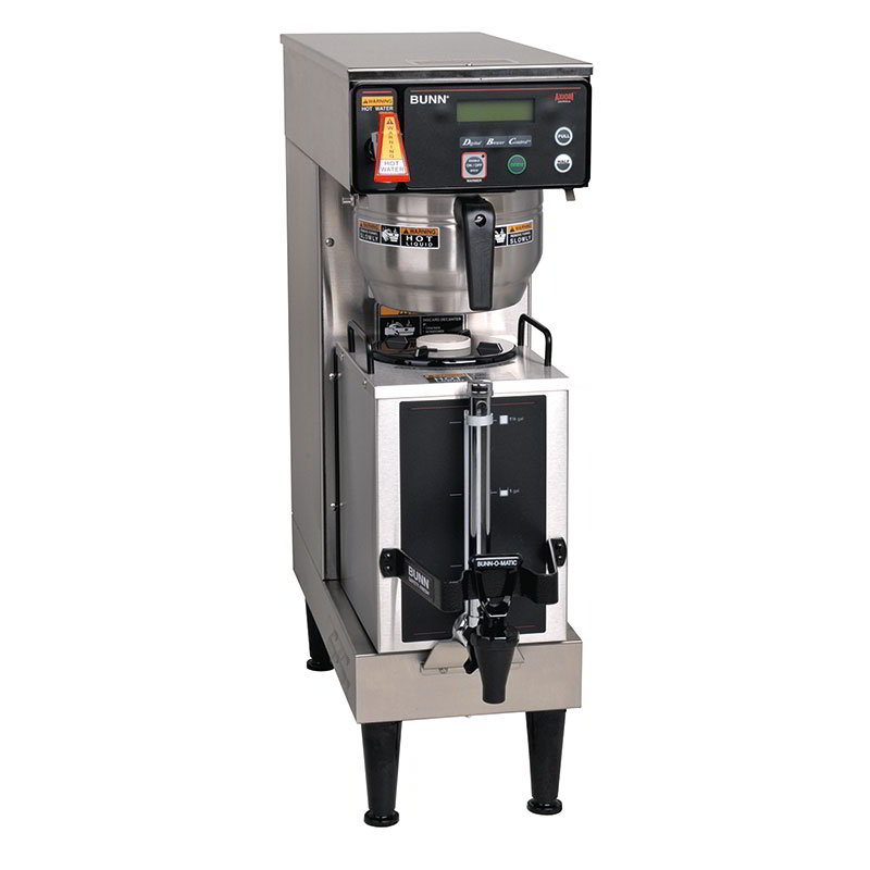 Bunn-o-matic 38700.0043 Single Coffee Brewer - 200-oz Capacity, 4.5-gal/hr, LCD Display