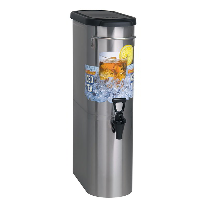 Bunn TDO-N-3.5-0001 3.5-Gal Brew Through Narrow Oval Iced Tea Dispenser (39600.0001)