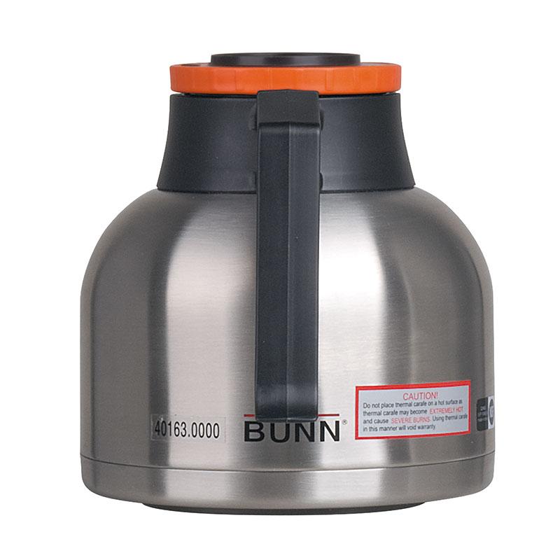 Bunn TC-ECON-0001 Thermal Carafe, 1.9 Liters (64 oz), Brew-Thru Lid, Orange Lid (51746.0003)