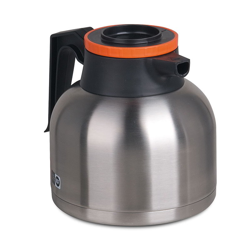 Bunn TC-ECON-0001 Thermal Carafe, 1.9 Liters (64 oz), Brew-Thru Lid, Orange Lid (40163.0001)
