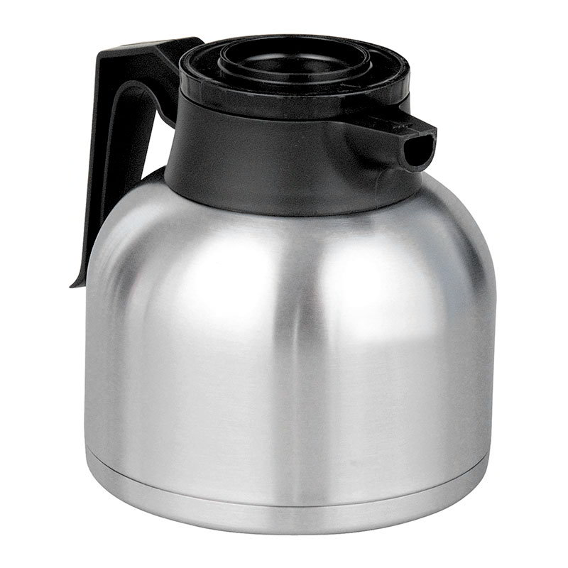 BUNN-O-Matic 40163.0100 64-oz Thermal Carafe w/ Brew Thru & Vacuum Insulation, Black Lid, All Stainless