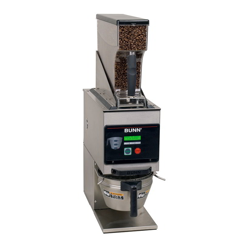 BUNN-O-Matic 40700.0001 6 lb Hopper Coffee Grinder, LCD Display, Portion Controlled, Stainless, 120 V