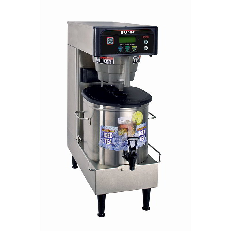 Bunn 41400.0004 Low Profile Iced Tea Brewer w/ 3-gal Single Brewer & 3-Recipe Buttons