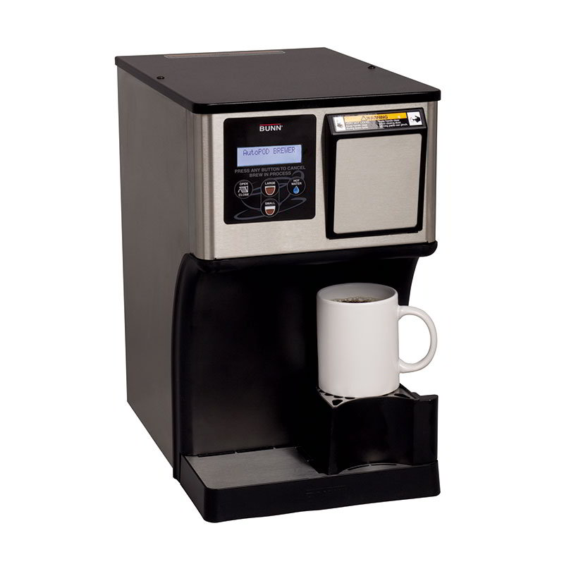Bunn MCAP-0000 Automatic Pod Brewer w/ Removable Bin, Brews 16-oz in 1-Minute (42300.0000)