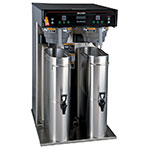 Bunn ITCB HV TWIN Twin Tea Coffee Brewer w/ 5.5 Gallon Tank & Digital Control (43100.0000)
