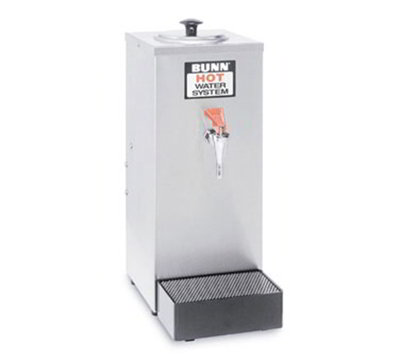 Bunn 02550.0003 Pourover Hot Water Dispenser w/ 200-Setting, 80-oz Tank Size Drip Tray Stainless