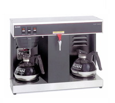 BUNN-O-Matic 07400.0005 Automatic Coffee Brewer w/ 3.8-gal/hr Capacity & 2-Lower Warmers, Black Decor
