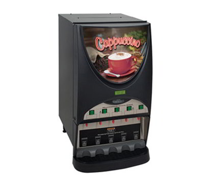 Bunn-o-matic 38100.0010 Dispenser w/ (5) 8-lb Hoppers & 4.5-gal in 1-hr, Coffee Display, Silver Finish