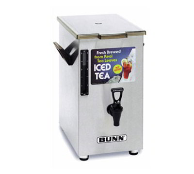 BUNN-O-Matic 03250.0003 Square Iced Tea Coffee Dispensers & Stands 4-gal Capacity Solid Lid Side Handles