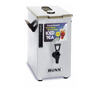 BUNN-O-Matic 03250.0006 4-gal Square Iced Tea Coffee Dispensers & Stands w/ Brew Through Lid Side Handle