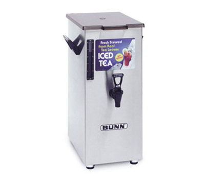 BUNN-O-Matic 03250.0004 4-gal Square Iced Tea Coffee Dispensers & Stands w/ Solid Lid & Side Handles