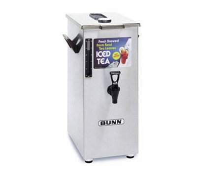 BUNN-O-Matic 03250.0018 4-gal Square Style Iced Tea Coffee Dispensers w/ Stands & Brew Through Lid, Tall