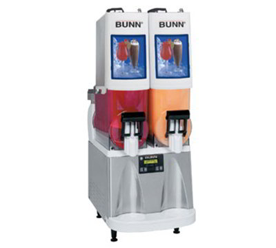 BUNN-O-Matic 34000.05 Frozen Drink Machine, (2) 2-gal Hoppers & Touchpad Display, Stainless, White