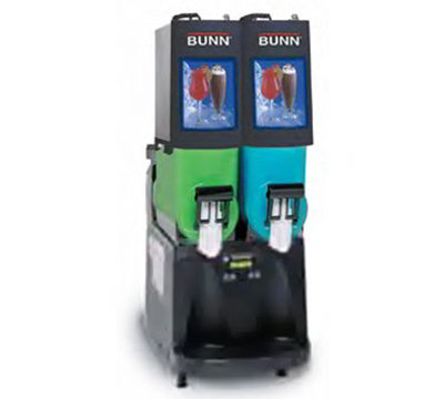 Bunn 34000.0504 Frozen Drink Machine, (2) 2-gal Hoppers & Touchpad Display, Stainless, Black
