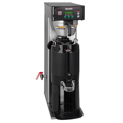 Bunn-o-matic 36600.0015 Tall Automatic Single Coffee Brewer w/ 3-Brew Buttons, Side Faucet & 2-Switches