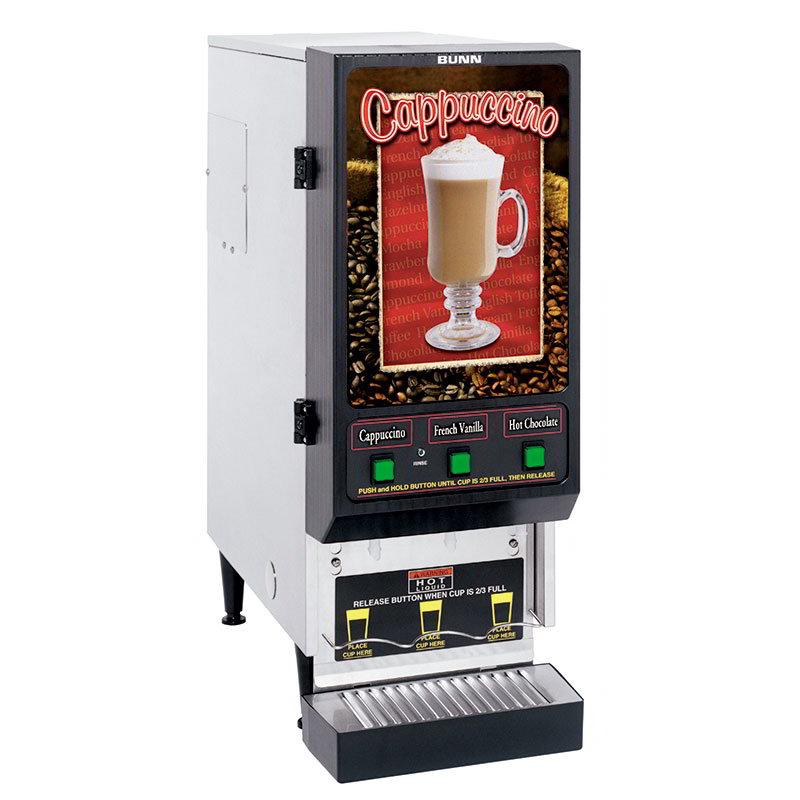 Bunn FMD-3-SS-0199 Powdered Beverage Dispenser w/ 1700-watt Tank Heater & (3) 4-lb Hoppers (SET00.0199)