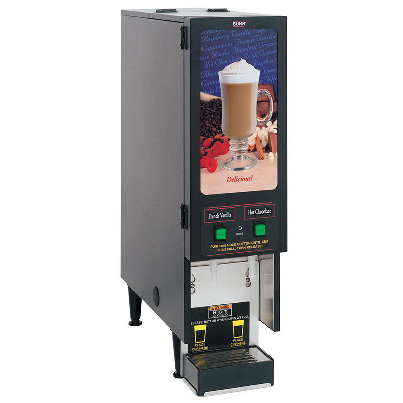Bunn FMD-2-0200 FMD-2 BLK Hot Powdered Drink Machine, 2 Hoppers, Standard Display (SET00.0200)
