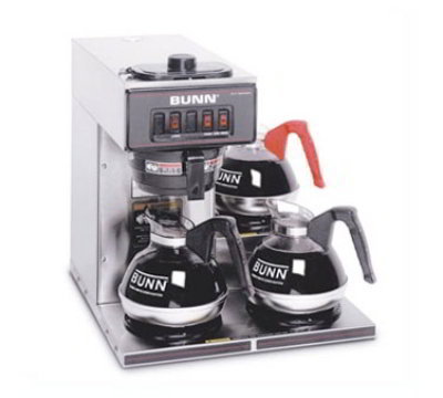 BUNN-O-Matic VP1730003 Pourover Coffee Maker w/ Lower Warmer, 3.8-gal in 1-hr, Stainless