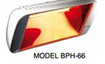 "Berner BPH-66FMX5 Patio Heater - 20x5.5x8.5"", 5100-BTU, 6.25-Amps, Cast Iron"