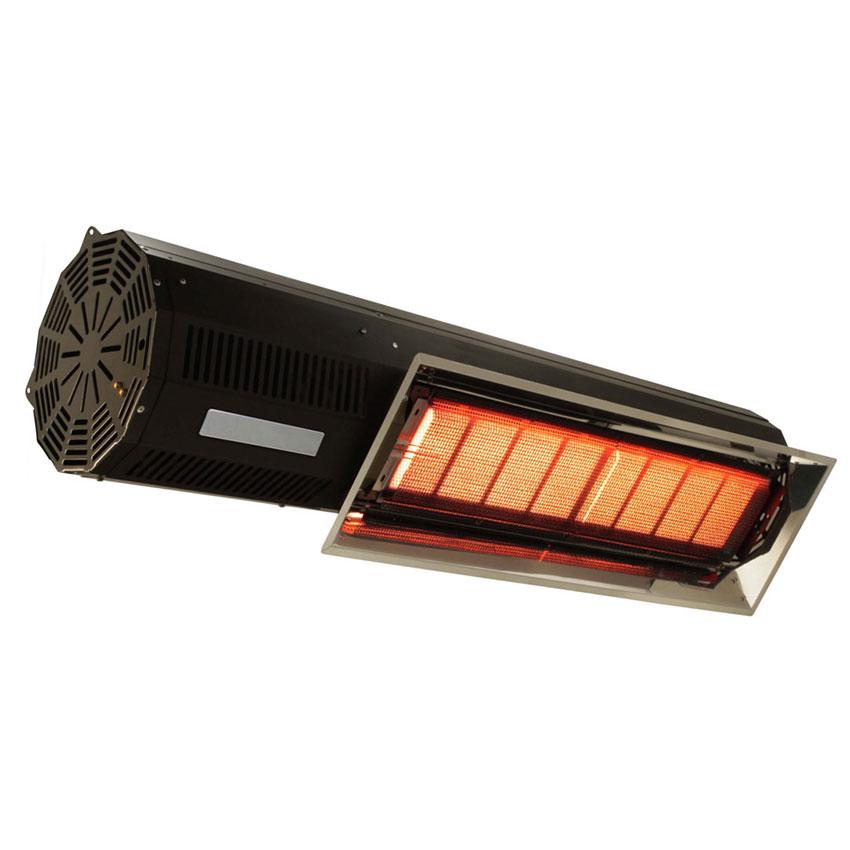 "Berner BPL-HAB20NBL 33"" Patio Heater - 15,000-20,000-BTU, Black, Natural Gas"