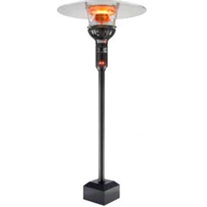 "Berner BPP-E301NTS Floor Mount Heater - 46,000-53,000-BTU, 75"" Pole, Stainless, Natural Gas"